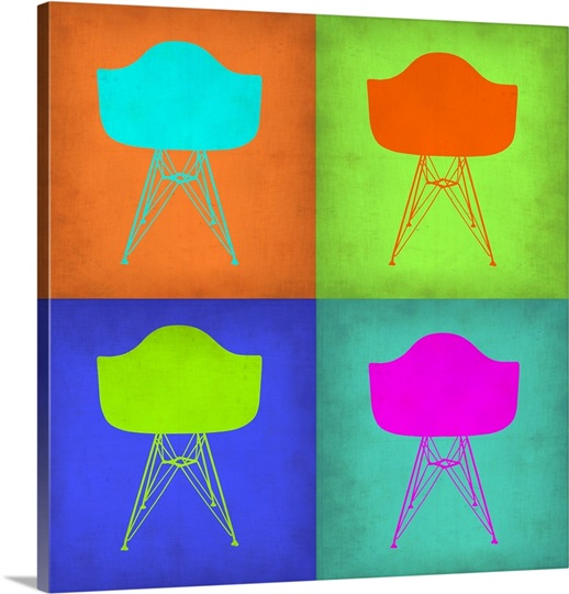 eames chair pop art i photo canvas print great big canvas. Black Bedroom Furniture Sets. Home Design Ideas