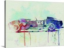 Ferrari Testa Rossa Watercolor II
