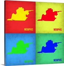 Memphis Pop Art Map I