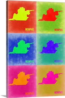 Memphis Pop Art Map III