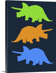 Minimalist dinosaur family poster vi wall art canvas for Minimal art family