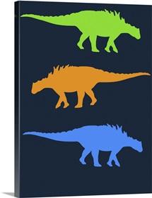 Minimalist Dinosaur Family Poster X
