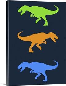 Minimalist Dinosaur Family Poster XXII