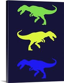 Minimalist Dinosaur Family Poster XXIII