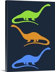 Minimalist Dinosaur Family Poster XXV
