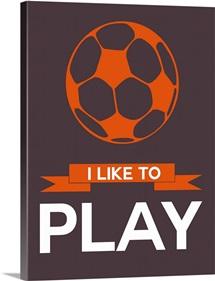 Minimalist Soccer Ball Poster