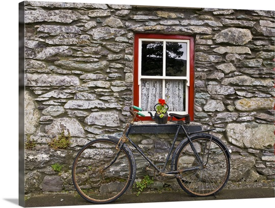 ireland bicycle photo canvas print great big canvas. Black Bedroom Furniture Sets. Home Design Ideas