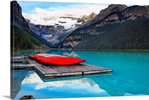 Canoes of Lake Louise, Alberta, Canada