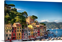 Colorful Harbor Houses in Portofino, Liguria, Italy