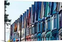 Colorful Row of House Facades, Cobh Town, County Cork, Ireland