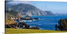 Panoramic View of the Big Sur Coast at the Rocky Creek Bridge, California