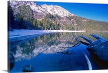 Tranquil Winter Bay Scene, Emerald Bay, Lake Tahoe, California