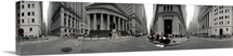 360 degree view of buildings Wall Street Manhattan New York City New York State