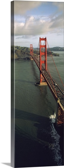 Aerial view of a bridge, Golden Gate Bridge, San Francisco, California