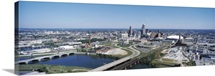 Aerial view of a city Indianapolis Marion County Indiana