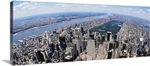 Aerial view of a city, Manhattan, New York City, New York State