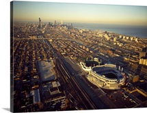 Aerial view of a city, Old Comiskey Park, New Comiskey Park, Chicago, Cook County, Illinois,
