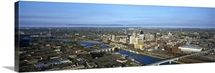 Aerial view of a city, St. Paul, Minneapolis, Minnesota,