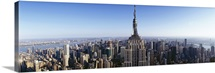 Aerial view of a cityscape, Empire State Building, Manhattan, New York City, New York State