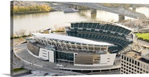 Aerial view of a football stadium Paul Brown Stadium Cincinnati Hamilton County Ohio