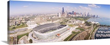 Aerial view of a stadium, Soldier Field, Chicago, Illinois