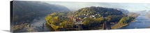 Aerial view of an island Harpers Ferry Jefferson County West Virginia