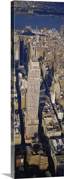 Aerial view of Empire State Building, Manhattan, New York City, New York State