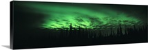 Alaska, Fairbanks, Aurora Borealis, View of the Northern lights