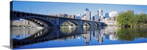 Arch bridge across a river, Minneapolis, Hennepin County, Minnesota