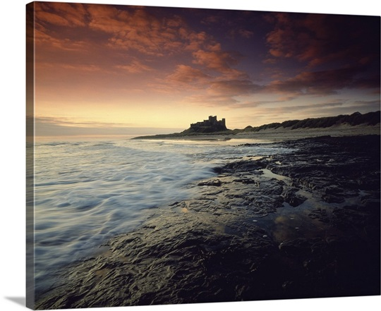 Bamburgh Castle England Photo Canvas Print Great Big Canvas