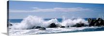 Beach With Crashing Waves Chiavari Liguria Italy