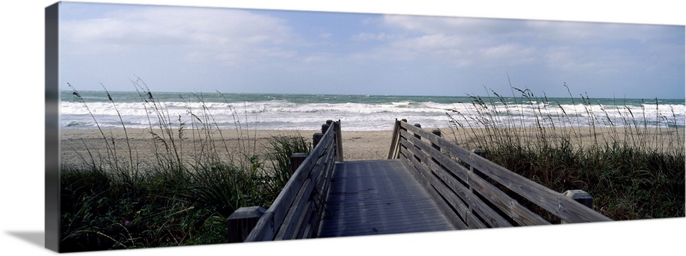 Boardwalk on the beach, Nokomis, Sarasota County, Florida,