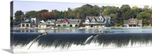 Boathouse Row at the waterfront, Schuylkill River, Philadelphia, Pennsylvania