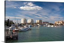 Boats at a harbor, Clearwater Beach, Pinellas County, Florida
