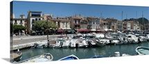 Boats docked at a harbor, Cassis, Bouches-du-Rhone, Provence-Alpes-Cote d'Azur, France