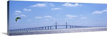 Bridge across a bay Sunshine Skyway Bridge Tampa Bay Florida