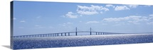 Bridge across a bay, Sunshine Skyway Bridge, Tampa Bay, Florida