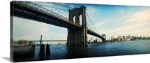 Bridge across a river Brooklyn Bridge East River Brooklyn New York City New York State