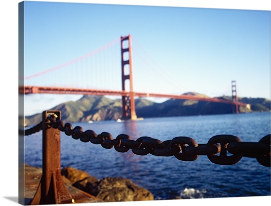 Bridge across the sea, Golden Gate Bridge, San Francisco, California