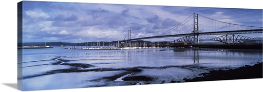 Bridges across a river firth of forth road bridge firth of forth rail
