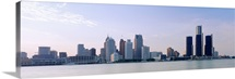 Buildings along waterfront, Detroit, Michigan