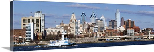 Buildings at the waterfront, Delaware River, Philadelphia, Philadelphia County, Pennsylvania