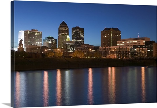 Buildings at the waterfront, Des Moines River, Des Moines, Iowa