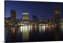 Buildings at the waterfront, Inner Harbor, Baltimore, Maryland