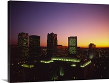 Buildings in a city at dusk, Birmingham, Alabama,