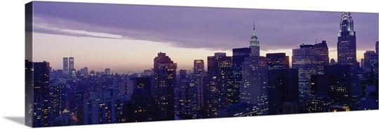 Buildings in a city, Manhattan, New York City