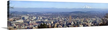 Buildings in a city viewed from Pittock Mansion Portland Multnomah County Oregon