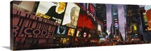Buildings lit up at night, Times Square, Manhattan, New York City, New York State