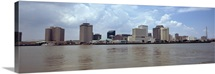 Buildings viewed from the deck of Algiers ferry New Orleans Louisiana