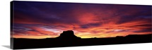 Buttes at sunset, Chaco Culture National Historic Park, New Mexico